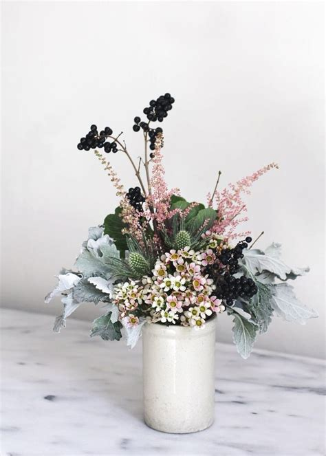 and elegant and easy winter flower arrangement anne sage