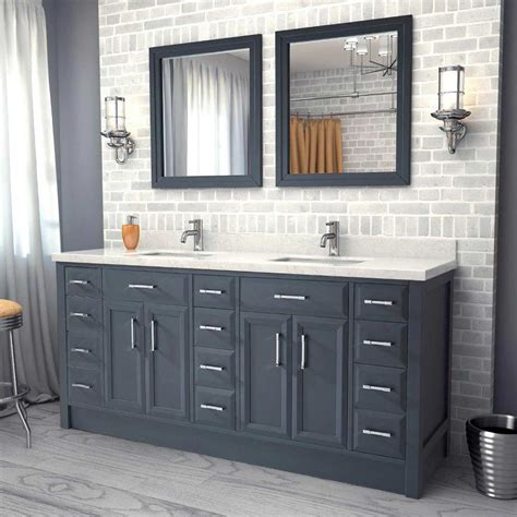 66 double sink vanity home design plan