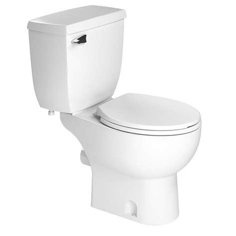 the loo bathroom saniflo 2 piece 1 28 gpf single flush round toilet in