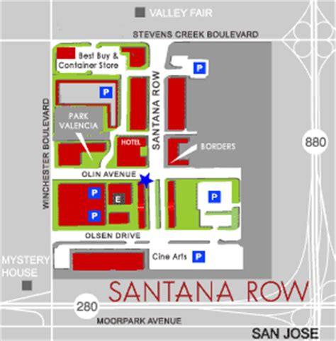 Santana Row Parking Garage by Map To Dean Vandruff S