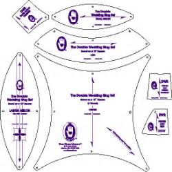 Wedding Ring Quilt Templates by Wedding Ring At From Marti Featuring Quilting With