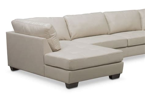 4 piece sectional with chaise santana 4 piece sectional with left facing chaise ivory