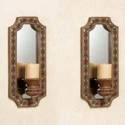 Mirror Wall Sconces Tribal Spirit Southwest Mirrored Wall Sconce Pair