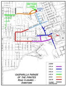 gasparilla florida map gasparilla 2015 closures schedule maps wusf news