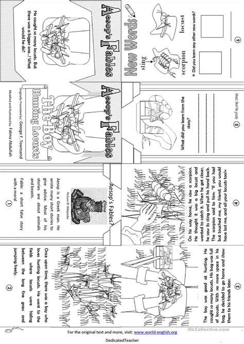 Aesop S Fables Worksheets by Aesop S Fables The Boy Locusts Worksheet Free