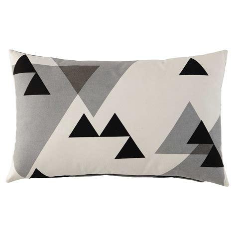 fodera cuscino fodera di cuscino nera grigia in cotone 30 x 50 cm