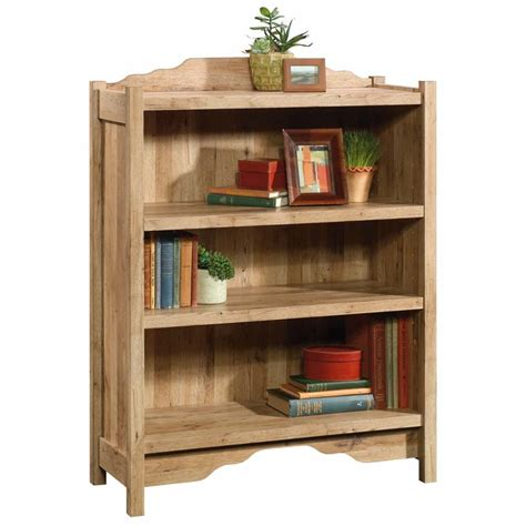 sauder 3 shelf bookcase sauder viabella 3 shelf bookcase in antigua chestnut 420117