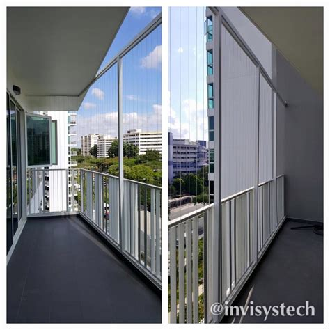 open balcony design irregular shape balcony invisys invisible grille