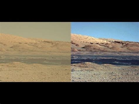 what is the real color of the sky volunteers needed to find all the polygonal ridges of mars