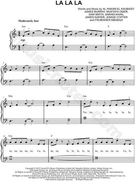 printable lyrics to naughty naughty boy quot la la la quot sheet music easy piano in a minor