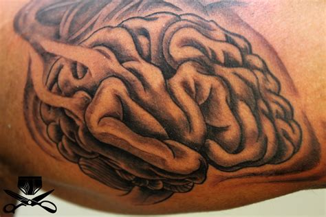 brain tattoos a brain for the dork in you find a