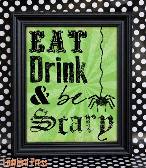 printable decorations scary printable decor eat drink and be scary pdf