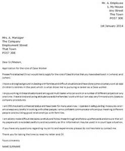 case worker cover letter example icover org uk