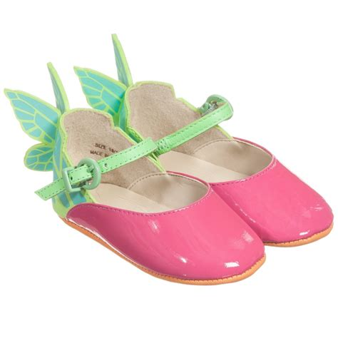 webster mini baby pink patent butterfly