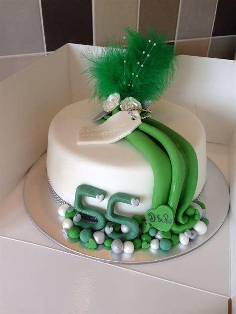emerald wedding anniversary cake  green celebration