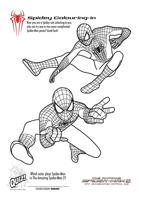 Free Printable Spiderman Colouring Pages And Activity Sheets In The Playroom Printables Activities