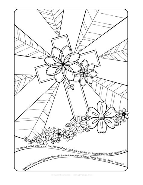 coloring pictures of easter cross resurrection cross coloring page http designkids