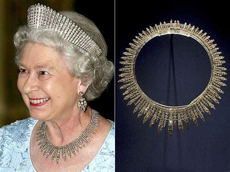 queen elizabeth ii glistens in diamonds and sapphires for queen elizabeth jewelry collection