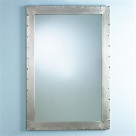 industrial metal mirror metal industrial mirror with rivets home