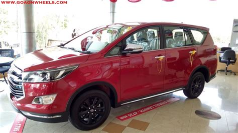 All New Innova Tank Cover Exclusive Chrome toyota innova touring sport launched in goa
