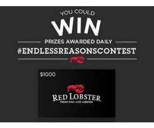 Red Lobster Sweepstakes - win red lobster 25 gift cards apple tv s and more free sweepstakes contests