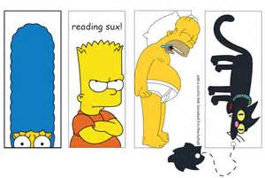 40 Page Essay On The Simpsons by Simpsons Bookmarks By Darks On Deviantart