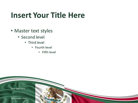 Mexico Flag Powerpoint Template Presentationgo Com Mexican Themed Powerpoint Template