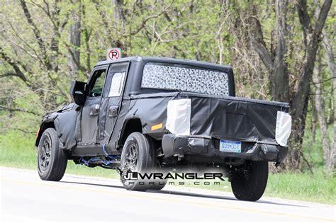 jt wrangler truck testing on roads shows spare