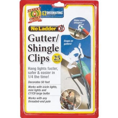 st nick s choice no ladder gutter shingle clips 25 ct