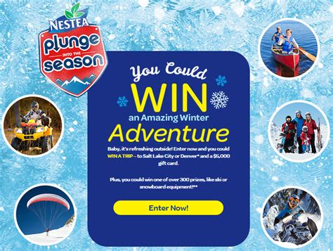 Nestea Sweepstakes - nestea plunge into the season sweepstakes