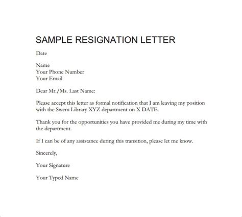 How To Write A Letter Of Resignation Email by How To Write A Professional Letter Of Resignation Professional Letter Of Resignation Sle Free