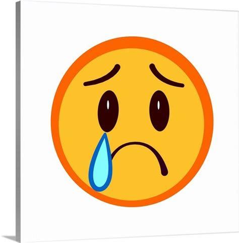 emoji sad face sad face emoji wall art canvas prints framed prints
