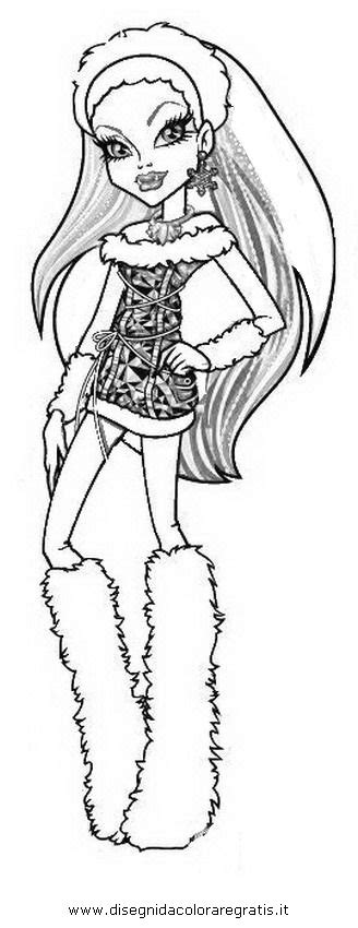 monster high coloring pages baby abbey bominable monster highs abbey colouring pages