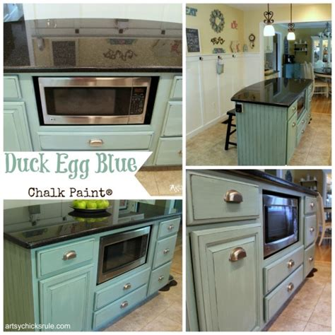 duck egg blue kitchen cabinets 15 furniture makeovers you can do artsy chicks rule 174