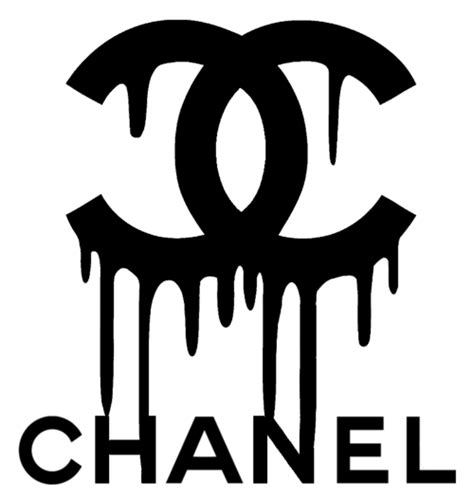 chanel logo transparent drip png   transparent