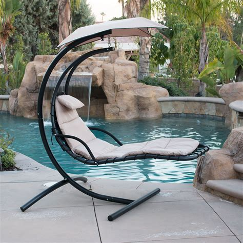 furniture home design outdoor hanging chair with stand hanging chaise lounger chair arc stand air porch swing