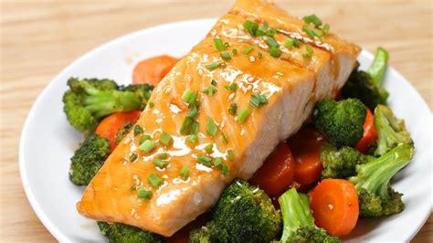 dinner salmon one pan teriyaki salmon dinner