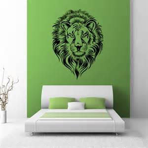 Big Head Wall Stickers su lions head animal big cats wall art sticker wall decal transfers