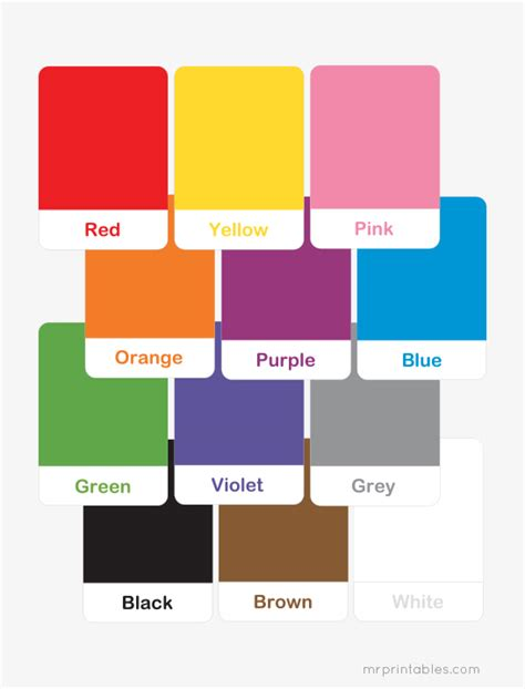 the flash colors printable color flash cards for preschool learning mr