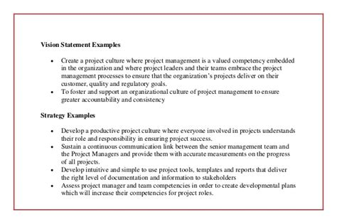 project vision template the 5 critical elements to creating a project management