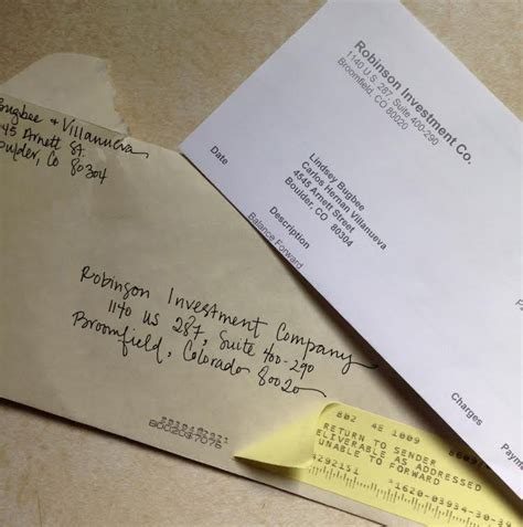 Rent Check Bounced Letter 5 Unique Ways To Address An Envelope
