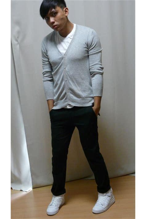 s neu look cardigans uniqlo shirts grey hound