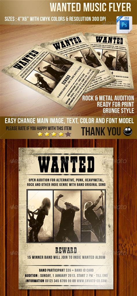 Musician Wanted Flyer Template Pin By Paula Jor On Print Templates Pinterest