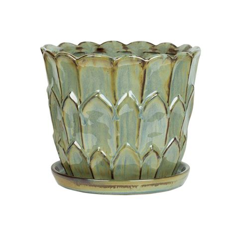 10 In Ceramic Planter by Pennington 10 In Ceramic Artichoke Planter 100523132