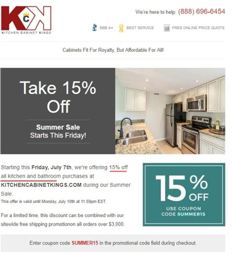 cabinets com coupon code 8 off kitchen cabinet kings coupon code 2017 promo code