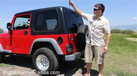 jeep cb radio 1987 2006 yj tj jeep cb radio kit overview