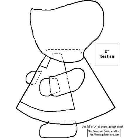 Free Sunbonnet Sue Quilt Patterns by Free Crochet Pattern Of Sunbonnet Sue Crochet And