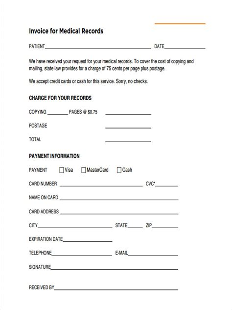 printable medical records invoice medical billing forms www imgkid com the image kid has it