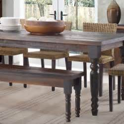 Rustic Dining Table And Bench Rustic Dining Table Bench Only Farmhouse Kitchen Solid Wood Seat Distressed Farm Ebay