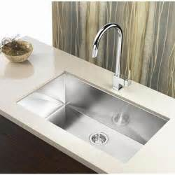 Kitchen Single Sink 36 Inch Stainless Steel Undermount Single Bowl Kitchen Sink Zero Radius Design